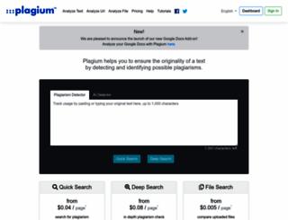 plagium.com screenshot