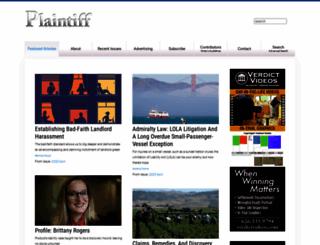 plaintiffmagazine.com screenshot