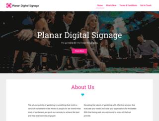 planardigitalsignage.com screenshot