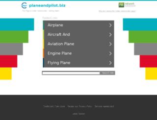 planeandpilot.biz screenshot