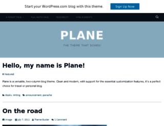 planedemo.wordpress.com screenshot