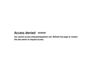 planespotters.net screenshot