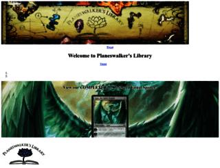 planeswalkerslibrary.com screenshot