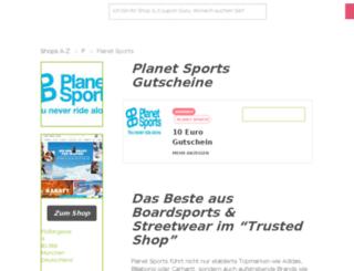 planet-sports.gutscheincodes.de screenshot