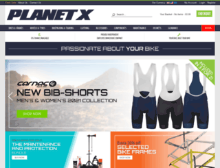 planet-x-bikes.co.uk screenshot