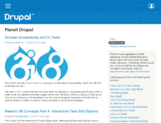 planet.drupal.org screenshot