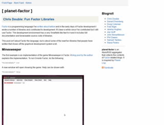 planet.factorcode.org screenshot