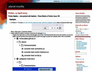 planet.mozilla.org screenshot