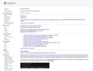 planet.python.org screenshot