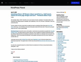 planet.wordpress.org screenshot
