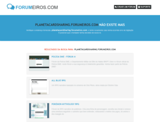 planetacardsharing.forumeiros.com screenshot