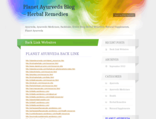 planetayurvedablog.wordpress.com screenshot