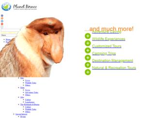planetborneotours.com screenshot