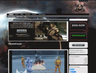 planetcyrene.com screenshot