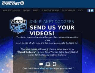 planetdodgers.sportsnetla.com screenshot