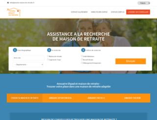 planete-maison-de-retraite.fr screenshot