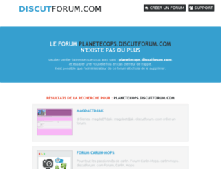 planetecops.discutforum.com screenshot