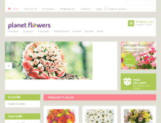 planetflowers.co.in screenshot