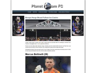 planetfulhamfc.com screenshot