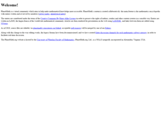 planetmath.org screenshot