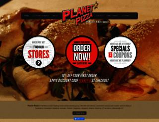 planetpizza.com screenshot