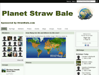 planetstrawbale.ning.com screenshot