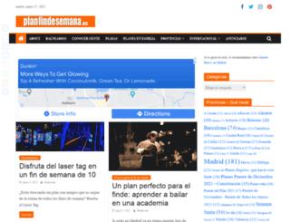 planfindesemana.es screenshot