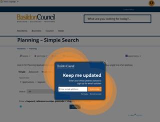 planning.basildon.gov.uk screenshot