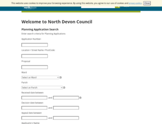 planning.northdevon.gov.uk screenshot