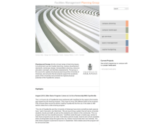 planning.uark.edu screenshot