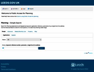 planningapplications.leeds.gov.uk screenshot