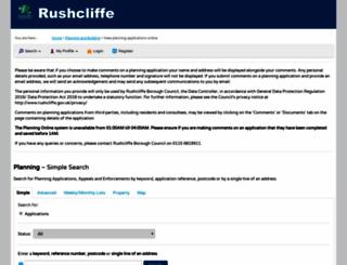 planningon-line.rushcliffe.gov.uk screenshot