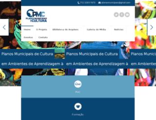 planomunicipaldecultura.com.br screenshot
