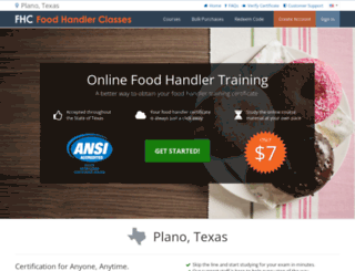 planotx.foodhandlerclasses.com screenshot
