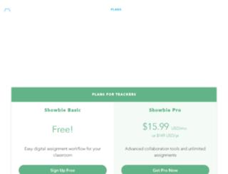 plans.showbie.com screenshot