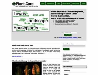 plant-care.com screenshot