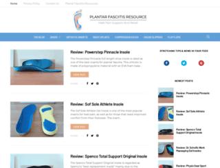 plantarfasciitisresource.com screenshot