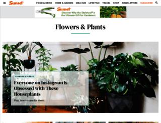 plantfinder.sunset.com screenshot