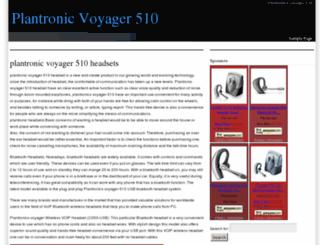 plantronicvoyager510.com screenshot