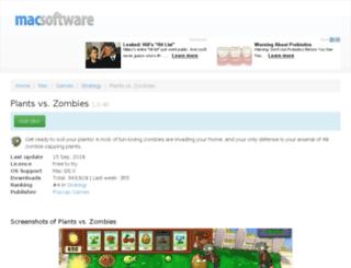 plants-vs-zombies.macsoftware.com screenshot