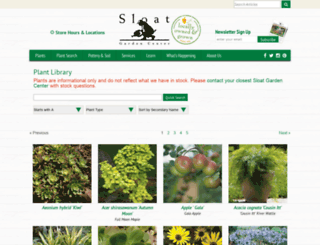 plants.sloatgardens.com screenshot