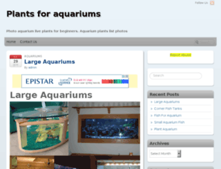 plantsforaquariums.info screenshot