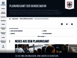 planungsamt.bundeswehr.de screenshot