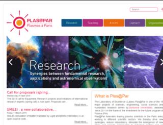 plasapar.upmc.fr screenshot