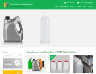plasticbottlesupplies.co.uk screenshot