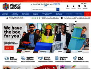 plasticboxshop.co.uk screenshot
