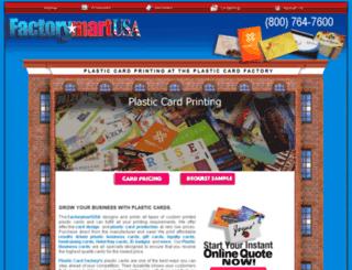plasticcardfactory.com screenshot