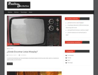 plasticosydecibelios.es screenshot