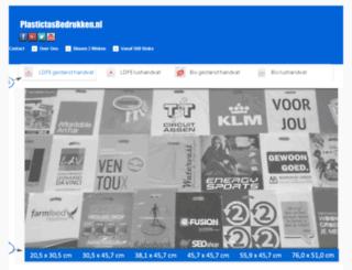 plastictasbedrukken.nl screenshot