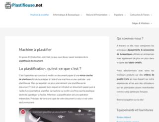 plastifieuse.net screenshot